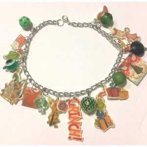 Jewelry - Dr Seuss Grinch who stole Book Christmas Holiday